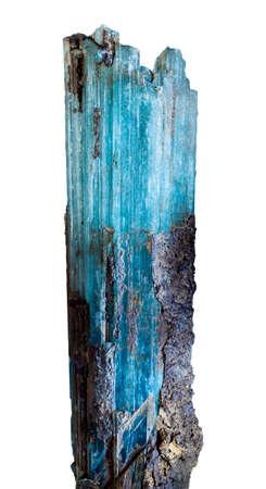 beryl: aquamarine raw crystal