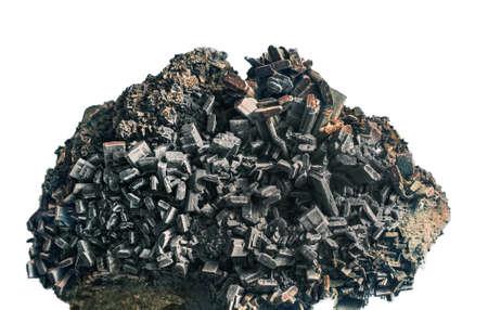 mineralization: Hedenbergite CaFe2 (SiO6)