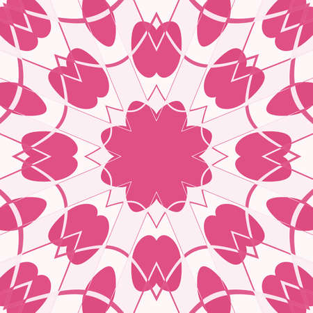 rosy: floral abstraction