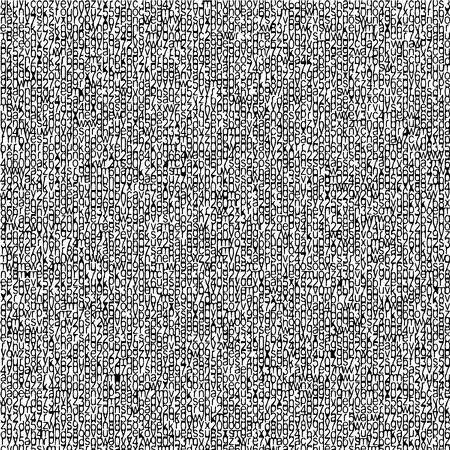 typographic grunge pattern Illustration