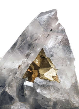 mineralization: aggregate with pirite and crystal quartze