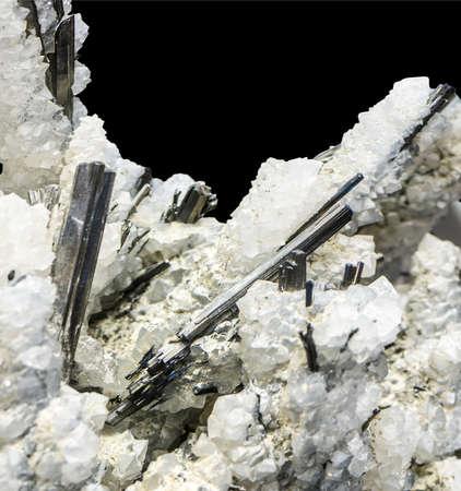 mineralization: crystals in quartz