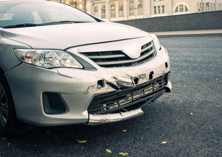 accidente de coche de la calle Foto de archivo