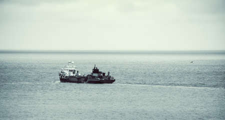 commercial fisheries: trawler  in open sea