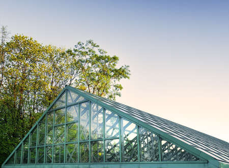 glasshouse: the solid glasshouse Stock Photo