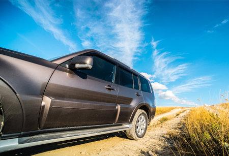 Krasnodar, Russia: legendary Mitsubishi Pajero walks along russian hills Editorial