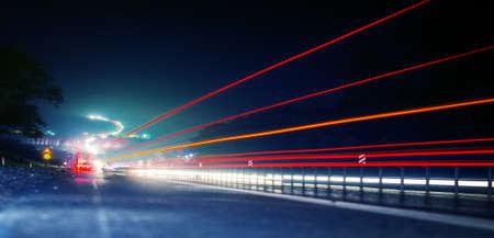 noche de Carreteras  Foto de archivo