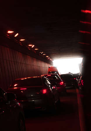 uneasiness: traffic in tunnel