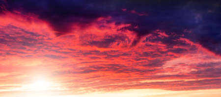 red sky: dramatic sunset
