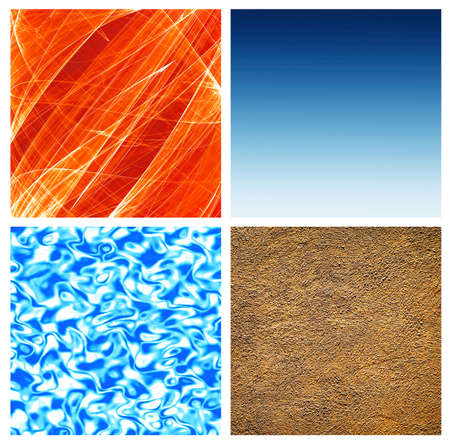 elements of nature: the four nature elements; abstract close-ups Stock Photo