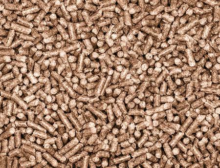 feedstock: granulated wood Stock Photo