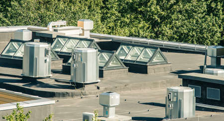 building exteriors: roof of the modern building
