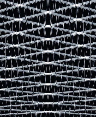 extention: industrial pattern in black Stock Photo