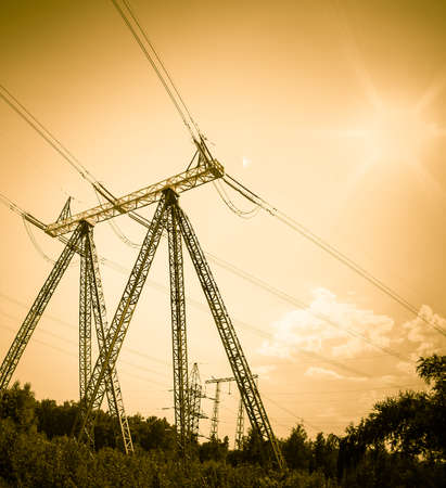 high voltages at sunset
