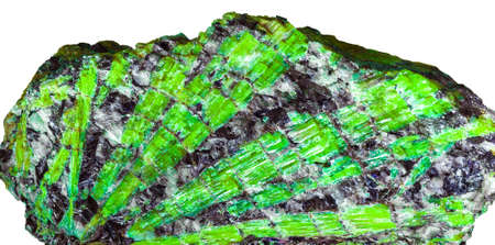 emerald crystals within own material Stock Photo