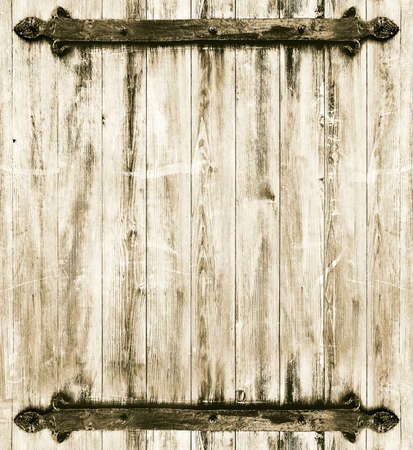 medieval braced wooden background