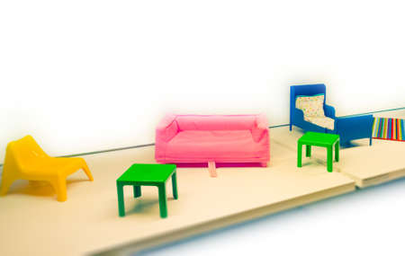 composition with toy furniture