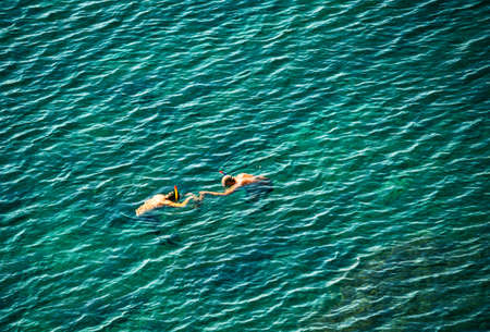 funny snorkelers