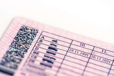 prawo jazdy; kategorie