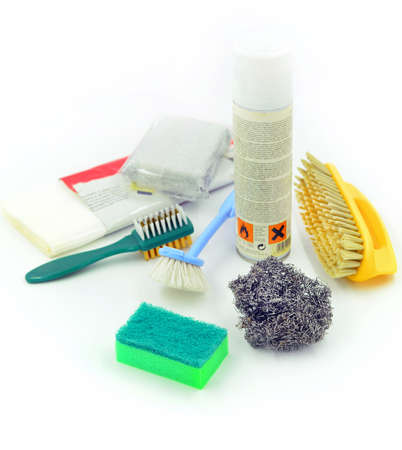 the home cleaning set Stock Photo