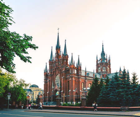 catholic Cathedral of the Immaculate Conception of Holy Virgin Mary in Moscow, Russia