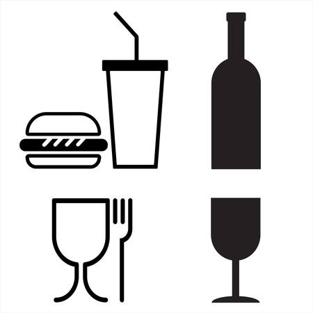 commodity conventional signs; fastfood restaurants Illustration