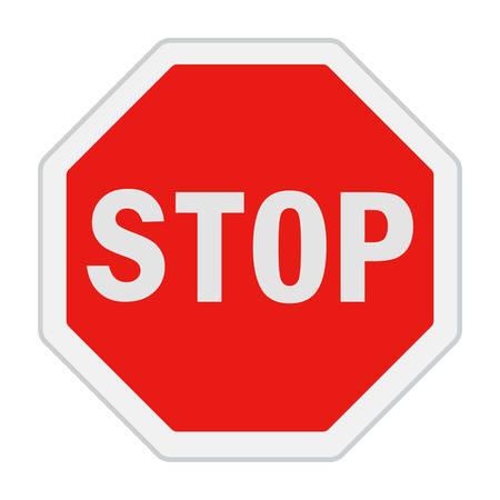 traffic sign Stop! Ilustración de vector