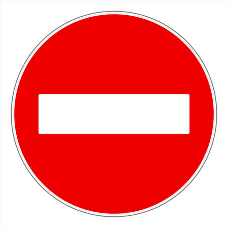 No entry or Do not enter! traffic sign Vettoriali