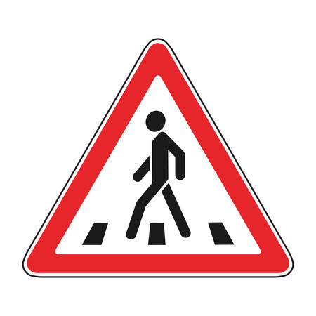 Crosswalk roadsign
