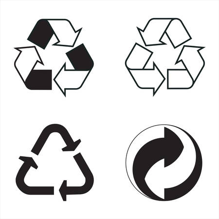industrial conventional signs; the recycling 向量圖像