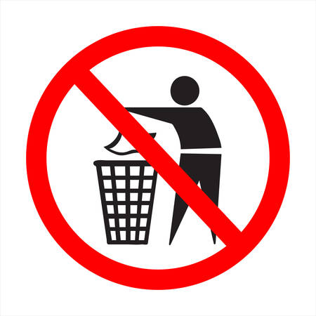 the absurd sign; litter up! Illustration