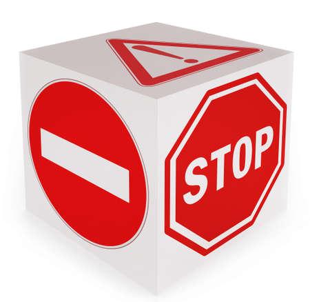 No entry! Stop! Danger! conceptual traffic signs Archivio Fotografico - 108186385