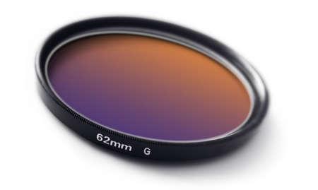 orange-blue gradiental photo lense filter
