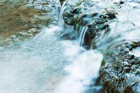 cascade on wild small river