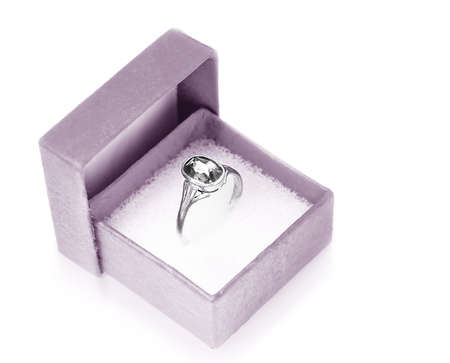 white-metal finger ring with its black diamond