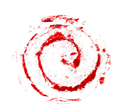 red grunge curl, on white Stock Photo