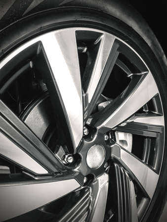 low profile tyre on the alloy wheel