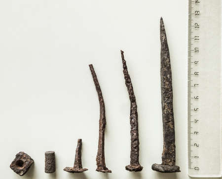 ancient nails and other forged pieces