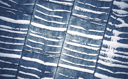 the zinc roofing at winter