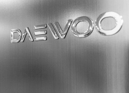 logotype of the Daewoo corp