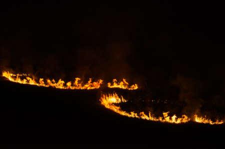 the pagan fire circles, at night Stok Fotoğraf