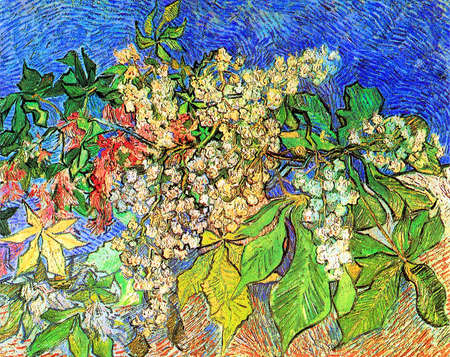 Blossoming Chestnut Branches  by Van Gogh 1890. the Foundation E.G. Bührle in Zurich