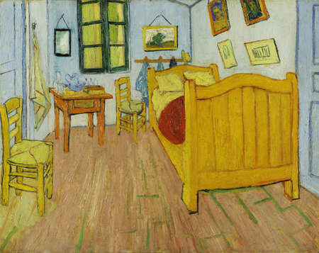Bedroom in Arles by V.Van Gogh 1888. the Van Gogh Museum, Amsterdam