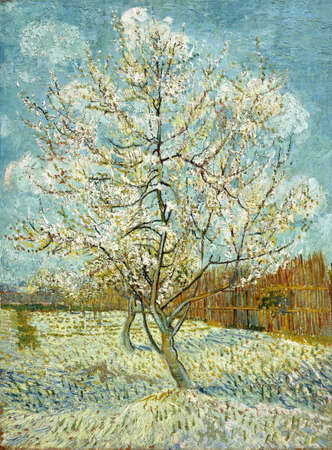 Peach Tree in Blossom, 1888 by Van Gogh. the Van Gogh Museum, Amsterdam