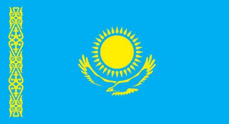 flag of Kazakhstan Republic closeup