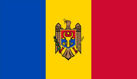 close up flag of Moldova