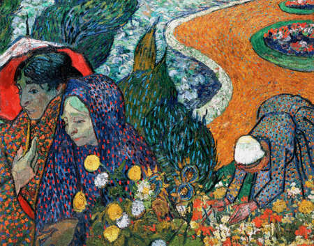 Memory of the Garden at Etten by Van Gogh, 1888. Hermitage Museum, St Petersburg, Russia