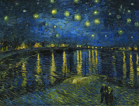 Starry Night Over the Rhone by Van Gogh, 1888. Museum Orsay, Paris Éditoriale