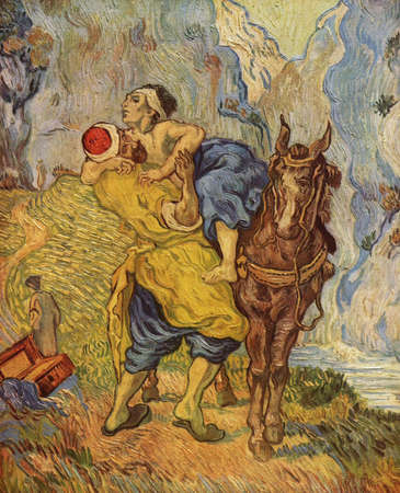 The Good Samaritan by Van Gogh (after Delacroix) 1890. Kroller-Muller Museum in Otterlo, Netherlands Editorial