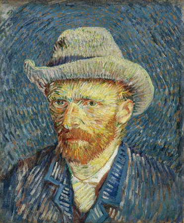 Self-portrait With Felt Hat by Van Gogh, 1887. The Van Gogh Museum, Amsterdam